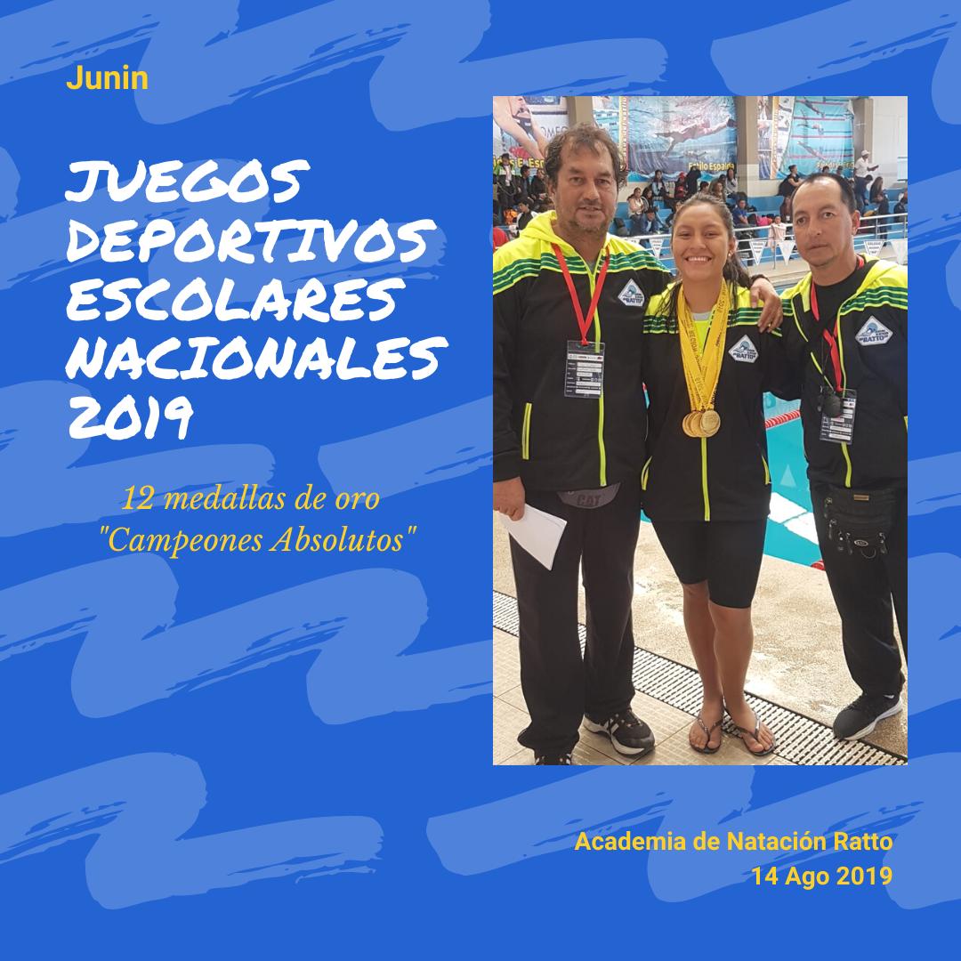 """""""Campeones Absolutos"""" de los Juegos Deportivos Escolares Nacionales 2019 -14 de Agosto del 2019"""